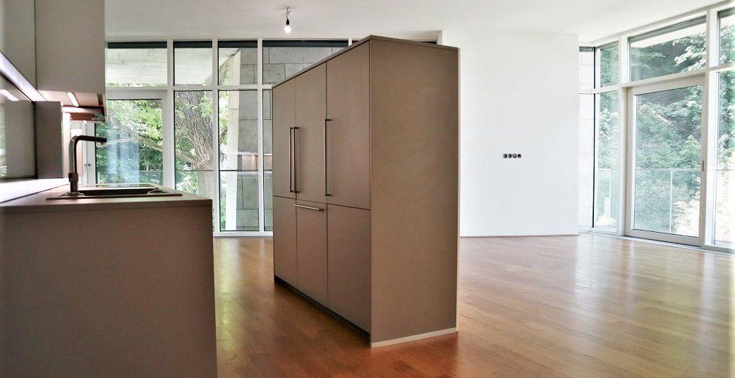 Küche und Wohn-Essbereich